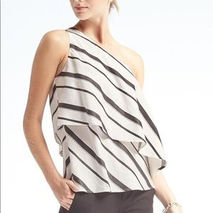 Banana Republic single shoulder top, size 0